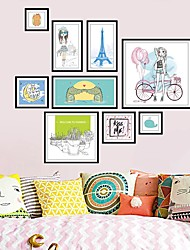 cheap -Architecture Cartoon People Wall Stickers Plane Wall Stickers Photo Stickers,Vinyl Material Home Decoration Wall Decal