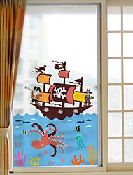 Недорогие -Животное Рождество Стикер на окна, ПВХ материал окно Украшение Для гостиной