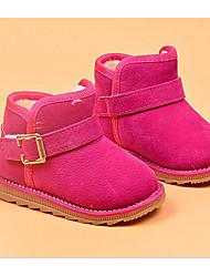 baratos -Para Meninas Sapatos Camurça Inverno Botas de Neve / Forro de fluff Botas para Preto / Pêssego / Marron