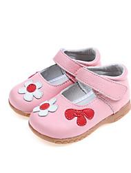 Fille Chaussures Vrai cuir Printemps Automne Chaussures de Demoiselle d'Honneur Fille Basket Pour Décontracté Blanc Noir Rouge Rose