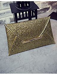 Women Bags PU Clutch Pockets for All Seasons Champagne Gold Black
