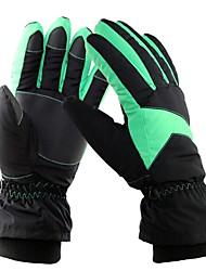 abordables -Guantes de esquí Hombre Mujer Dedos completos Mantiene abrigado Protector Tejido Algodón Deportes de Nieve Invierno