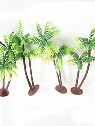 13cm 4 Pcs Home Decoration Mini Artificial Plastic Coconut Trees