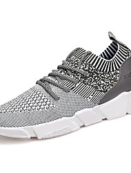 cheap -Men's Shoes PU Spring Fall Comfort Athletic Shoes Walking Shoes For Casual Light Grey Dark Grey Black