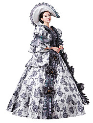 Steampunk®Georgian Dress Brocade Period Ball Gown Dark Vampire Costume