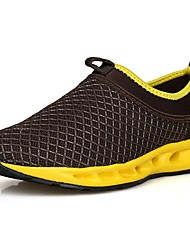 cheap -Men's Shoes Fabric Tulle Spring Fall Comfort Athletic Shoes Walking Shoes Lace-up For Outdoor Black/Yellow Black/Blue Brown Gray