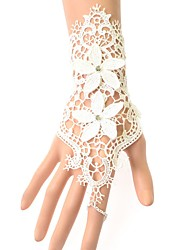 cheap -Women's Lace Flower Ring Bracelet - Vintage Fashion Round White Bracelet For Christmas Wedding Party