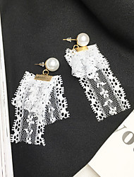 cheap -Women's Drop Earrings Imitation Pearl Fashion Lace Alloy Jewelry For Daily