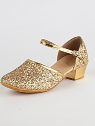 "Women's Modern Paillette Indoor Low Heel Gold Silver Red 1"" - 1 3/4"" Customizable"