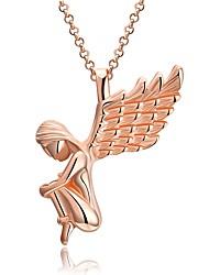 Femme Pendentif de collier Colliers chaînes Ailes / Plume Plaqué Or Rose Alliage Bijoux Pour Noël