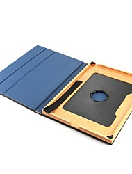 Недорогие -для крышки корпуса с подставкой флип 360 ° вращение авто спящий / пробуждение полный корпус корпус сплошной цвет твердая натуральная кожа