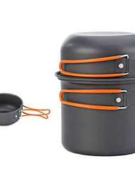 4 in 1 Camping Kochgeschirr Mess-Set 5 Stück leichtes Aluminium Kochgeschirr Kochen
