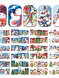 cheap -1 Nail Art Sticker  Pattern Accessories Grooming Art Deco/Retro Water Transfer Sticker Water Transfer Decals Cartoon 3-D Christmas New