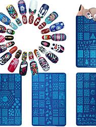 6 Tampons Ongles  Modèle d'image Plaques Pochoir