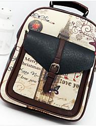 preiswerte -Damen Taschen PU Rucksack Reißverschluss für Normal Ganzjährig Blau Schwarz Khaki