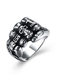 cheap -Men's Statement Ring - Stainless Steel Gothic 8 / 9 / 10 Silver For Street / Club
