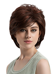 cheap -Women Synthetic Wig Capless Short Straight Brown Side Part Highlighted/Balayage Hair Layered Haircut Natural Wigs Costume Wig