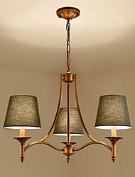style pastoral Montage du flux Pour Chambre à coucher Salle à manger Intérieur 220V 110VV Ampoule non incluse