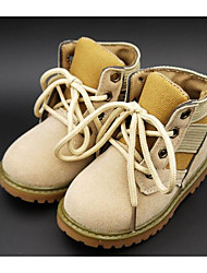 cheap -Boys' Shoes Suede Fall / Winter Comfort / Combat Boots Boots for Black / Yellow / Army Green