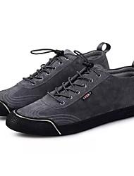 Da uomo Scarpe Cashmere Primavera Autunno Suole leggere Sneakers Lacci Per Casual Nero Grigio