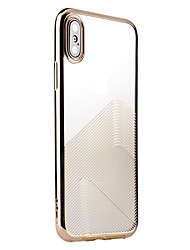 cheap -Case For Apple iPhone X iPhone 8 Plating Transparent Pattern Back Cover Lines / Waves Soft TPU for iPhone X iPhone 8 Plus iPhone 8 iPhone