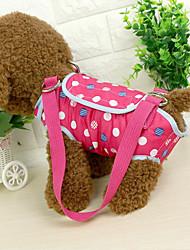 Gato Cachorro Mini Mensageiro Animais de Estimação Transportadores Portátil Pontos Polka Azul Rosa claro