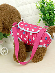 cheap -Cat Dog Sling Bag Pet Carrier Portable Polka Dots Blushing Pink Blue