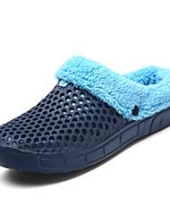 cheap -Men's Shoes EVA Winter Fluff Lining Comfort Slippers & Flip-Flops For Casual Outdoor Gray Dark Blue Black