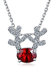 Women's Pendant Necklaces Chain Necklaces Crystal Cubic Zirconia Irregular Giraffe Rose Gold Plated Alloy Fashion Hypoallergenic Jewelry