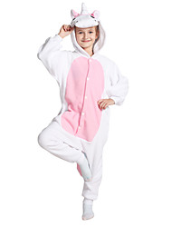 kigurumi Pyjamas Unicorn Costume Rose Polaire Collant / Combinaison Cosplay Fête / Célébration Pyjamas Animale Halloween Couleur Pleine
