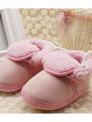 preiswerte -Baby Schuhe Vlies Herbst Winter Komfort Lauflern Flache Schuhe Für Normal Rot Blau Rosa Khaki