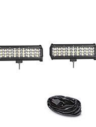 cheap -2PCS 81W 8100LM 6000K 3-Rows LED Work Light Cool White Combo Offroad Driving Light for Car/Boat/Headlight IP68 9-32V  3m 1-To-2 Wiring Harness Kit