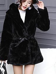 Damen Solide Einfach Aktiv Ausgehen Mantel,V-Ausschnitt Winter Lange Ärmel Standard Seide Kaschmir