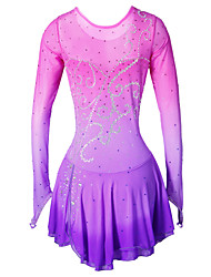 Figure Skating Dress Women's Girls' Ice Skating Dress Handmade Performance Skating Wear High Elasticity Spandex Skirt Dress Bottoms Ice