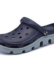 abordables -Homme Chaussures Polyuréthane Eté Confort Sabot & Mules Pour Décontracté Noir Bleu de minuit Kaki