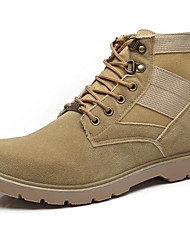 cheap -Men's Shoes Nubuck leather Spring Fall Comfort Combat Boots Boots For Casual Yellow Black