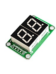 74HC595 Static Drive 2 Segment Digital Tube Display Module 0.5 Inch and 2 High Bright Red