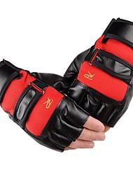 Недорогие -Спортивные перчатки Перчатки для велосипедистов Пригодно для носки / Защитный Без пальцев Кожа / Ткань Велосипедный спорт / Велоспорт Универсальные