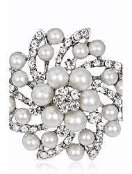 cheap -Women's Brooches Imitation Pearl Alloy Round Jewelry For Wedding Party