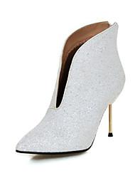 Damen Schuhe Paillette Glanz Herbst Winter Modische Stiefel Stiefeletten Stiefel Spitze Zehe Booties / Stiefeletten Paillette Für