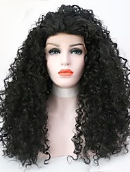 cheap -Women Synthetic Wig Lace Front Long Curly Kinky Curly Black Natural Hairline Natural Wigs Costume Wig