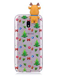 Coque Pour Samsung Galaxy J7 (2017) J5 (2017) Motif A Faire Soi-Même Coque Arrière Dessin Animé 3D Noël Flexible TPU pour J7 (2016) J7