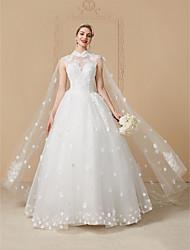 Vestido de noiva com vestido de princesa alto vestido de casamento com cristal por yuanfeishani