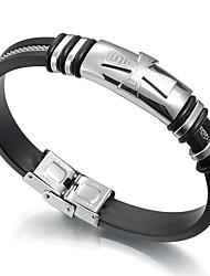 cheap -Men's Link Bracelet , Vintage Leather Stainless Cross Jewelry For Daily