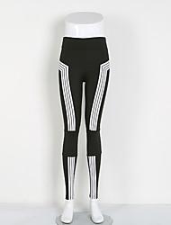 abordables -Mujer Pantalones ajustados de running Yoga Fitness Medias/Mallas Largas Yoga Pilates Ejercicio y Fitness Elastán Polyster S M L