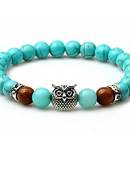cheap -Men's Turquoise Turquoise Lovely Strand Bracelet - Animals Circle Turquoise Bracelet For Going out Street