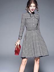cheap -Women's Classic & Timeless A Line Dress - Striped