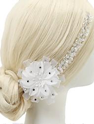 baratos -Castiçais de cristal de cristal de chiffon estilo 1pc headpiece elegante