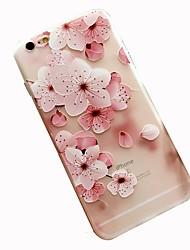 Недорогие -Кейс для Назначение Apple iPhone 8 / iPhone 7 С узором Кейс на заднюю панель Цветы Мягкий ТПУ для iPhone 8 Pluss / iPhone 8 / iPhone 7 Plus