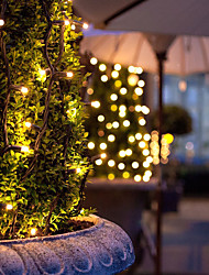 cheap -12M 100 Led Solar Powered Led Fairy String Lights For Outdoor Gardens Homes Christmas Party
